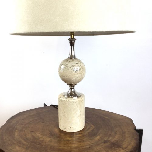 travertine table lamp maison barbier france 1970s (18)