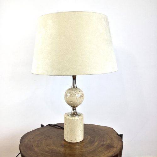 travertine table lamp maison barbier france 1970s (20)