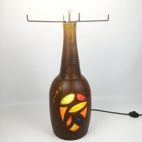 1960s french accolay large teracotta and resin lamp (29)