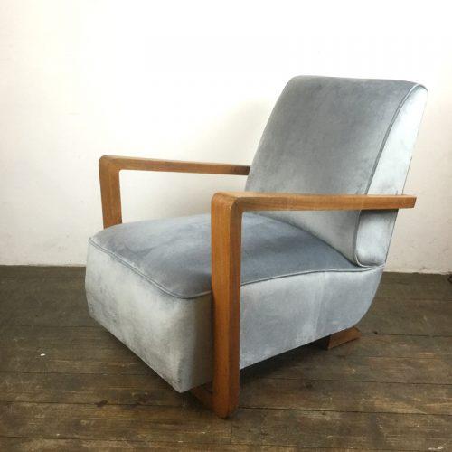 art deco velvet armchair 1930s (11)
