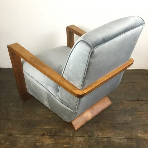 art deco velvet armchair 1930s (12)
