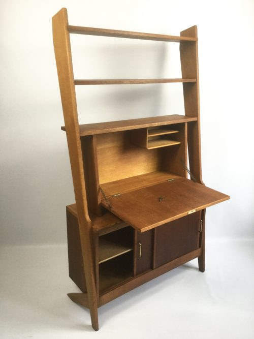 1950s French secretaire shelving unit (16)