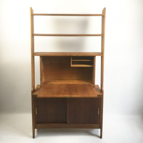 1950s French secretaire shelving unit (20)