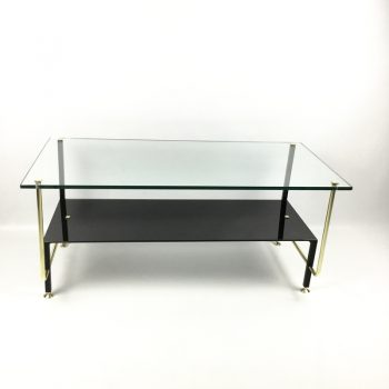 coffee table-french-1950s-glass-brass