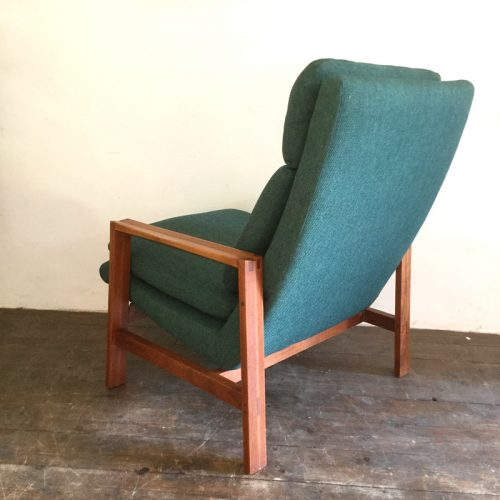 1950s green armchair michel mortier style (10)