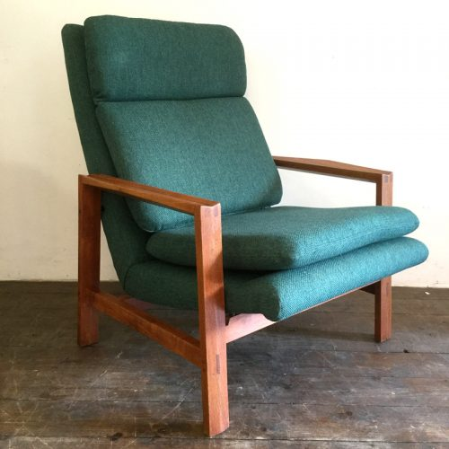 1950s green armchair michel mortier style (14)