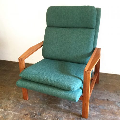 1950s green armchair michel mortier style (3)
