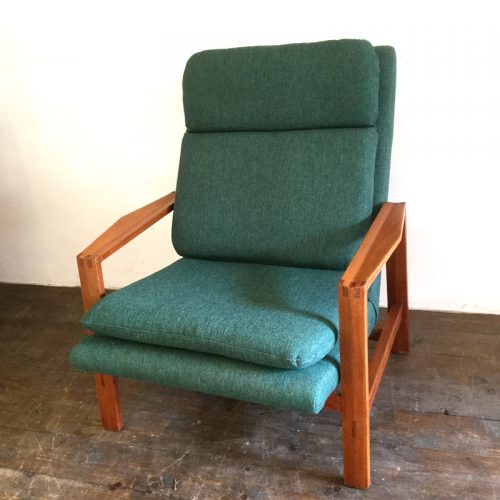 1950s green armchair michel mortier style (4)