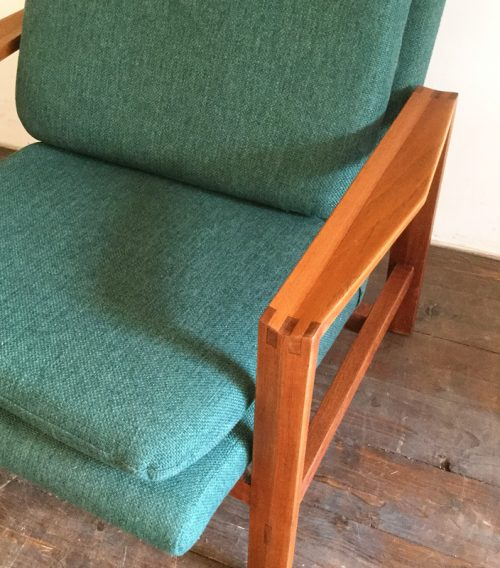 1950s green armchair michel mortier style (5)