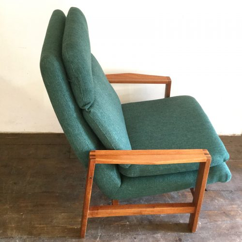 1950s green armchair michel mortier style (8)
