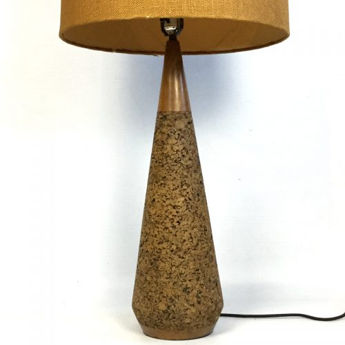 1950s teak and cork table lamp (13)