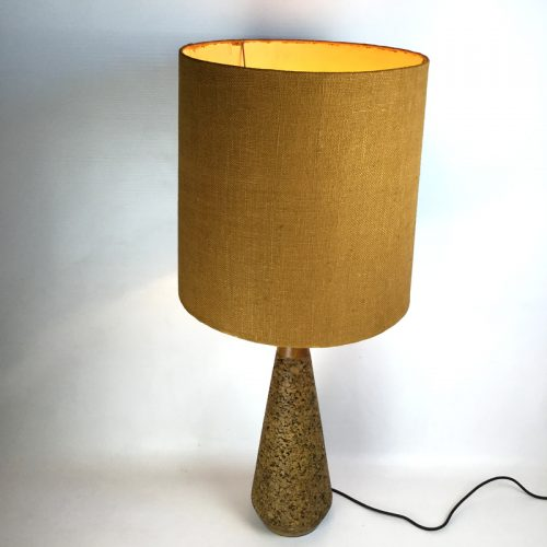 1950s teak and cork table lamp (4)