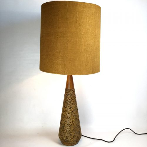 1950s teak and cork table lamp (8)