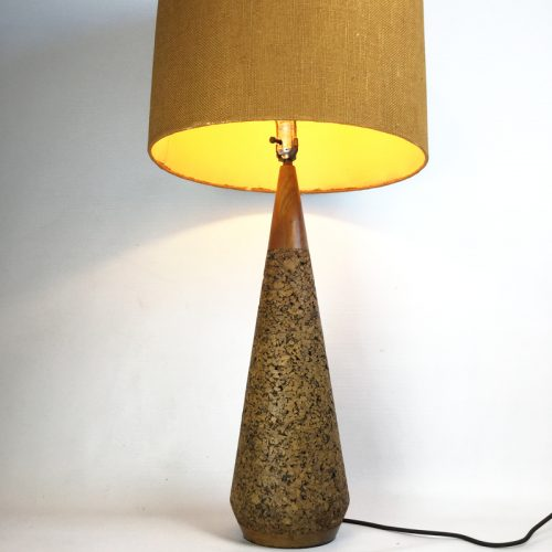 1950s teak and cork table lamp (9)