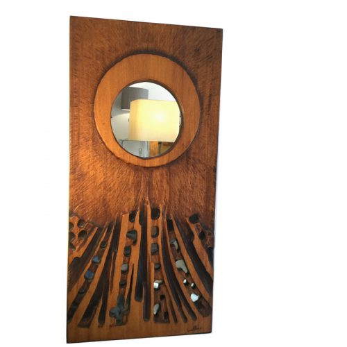 1970s wooden mirror by guallino (1)