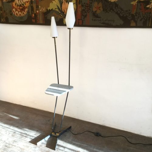 1950s french floor lamp marble table 1 (4)