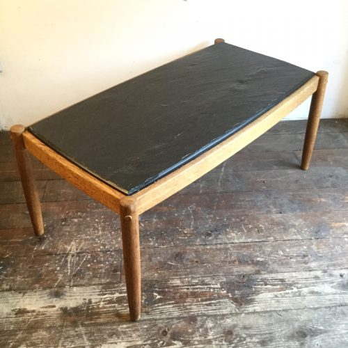 oak belgium coffee table with slate top, 1960s (11)