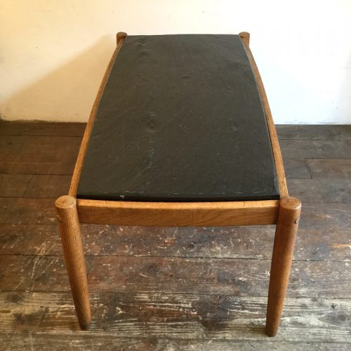 oak belgium coffee table with slate top, 1960s (4)