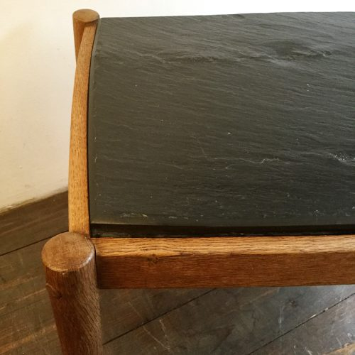 oak belgium coffee table with slate top, 1960s (8)