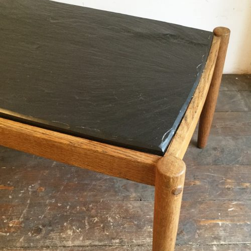 oak belgium coffee table with slate top, 1960s (9)